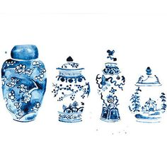 Ginger Jars Watercolor Print
