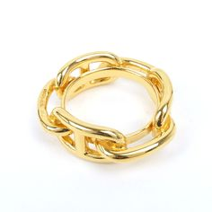 Product No scarf ring. Gold plated. Please always check the detailed condition of the product as in the photos above. (Stains)- (Scratches) Minor rubbing. (Remarks)- (Scratches)-