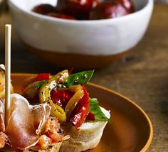 You'll taste all the vibrant flavours of northern Spain with this Basque-style tapa of sweet fried peppers and onions on a baguette slice