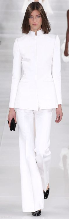Ralph Lauren Collection Spring-summer 2014 - Ready-to-Wear Ralph Lauren Style, Ralph Lauren Collection, Couture Mode, Couture Fashion, Couture Style, Terno Casual, Glamour Moda, Moda Outfits, Mode Costume
