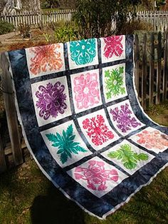 Hawaiian Quilt from Batiks :)