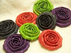 Items similar to 8 Piece Set of Very Chic Halloween Scrapbook Paper Flower Rolled Roses on Etsy Scrapbook Paper, Scrapbooking, Chic Halloween, Halloween Scrapbook, Paper Flowers, Unique Jewelry, Handmade Gifts, Desserts, Etsy