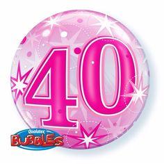 Folie helium ballon in het roze van 40 jaar. Folie ballon met 40 jaar geworden opdruk. De folie ballon is ongeveer 55 cm groot. Deze folie ballon wordt gevuld met helium geleverd en kan derhalve niet geretourneerd worden.