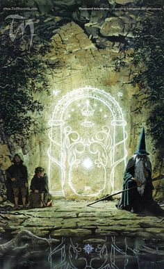 Password Into Moria - by Ted Nasmith | Featured Artist on the Fantasy Gallery
