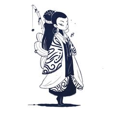 Asian Princess - Character Concept and Animation, Lucas Mendonça on ArtStation at https://www.artstation.com/artwork/XYOXY
