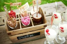 Ice Cream Toppings on Pinterest | Ice Cream Bars, Ice Cream Party and ...