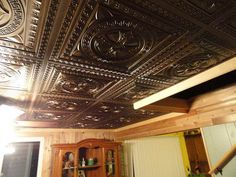 The Advantages Using Plastic Ceiling Tiles: Plastic Ceiling Tiles That Look Like Tin Isntalled In A Grid System. ~ gamesbadge.com Floor Inspiration