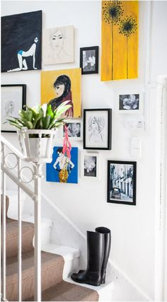 Pin magazin 2014 autumn - No. Gallery Wall, Stairs, Autumn, Living Room, Wall Art, Simple, Home Decor, Stairway, Decoration Home