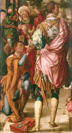 Georg Pencz Fragment of an altarpiece: King Balthasar standing Germany (c. Oil on Canvas, 181 x 44 cm. The Image of the Black. European People, European History, Black History, Art History, History Facts, Pink Painting, Figure Painting, African History, African Art