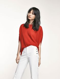 Autumn Spring summer 2017 Women´s CAPE-STYLE SWEATER WITH CROSSOVER BACK DETAIL at Massimo Dutti for 94.5. Effortless elegance!