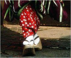 Okobo, traditional sandals of maiko.