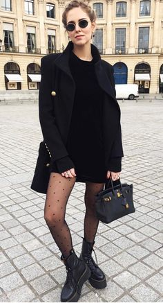 Kleid - Wheretoget - Street Style Outfits - What inspires me - fashion&beauty - Winter Mode Black Women Fashion, Fur Fashion, Look Fashion, Winter Fashion, Fashion Outfits, Womens Fashion, Trendy Fashion, Dress Outfits, Casual Outfits