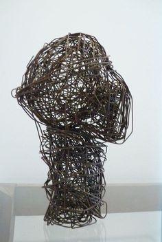 Escultura em metal - Cabeça R$35