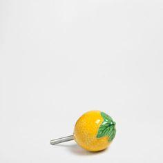 Lemon Ceramic Knob (Set of 2) - Knobs - Decor and pillows   Zara Home United States