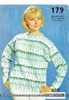 DFU Birthe 179 Norwegian Knitting, Vintage Knitting, Knitting Patterns, Crochet, Vests, Sweaters, Crafts, Handmade, Retro