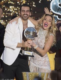 Big winners: Nyle DiMarco and pro-partner Peta Murgatroyd were crowned the season 22 champ...Hearing impared dancer won!