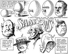 We have already posted an article about shading cartoons and comics...so you can consider this part 2 of the cartoon shading tutorials. This article will discuss sketching simple objects and people in different positions in relation to a light source and how it affects the shadows and shading of that subject.