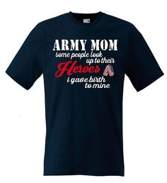 Army Mom T-Shirt Military Support Our Troops Tee Mom by ADabOfInk on Etsy