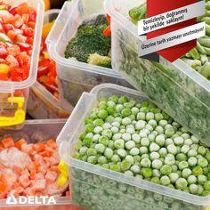 Derin dondurucuda sebzeleri saklarken temizleyip, doğranmış bir şekilde saklamaya özen gösterin! Ayrıca üzerlerine tarih yazmayı unutmayın! Delta ürünleri hakkında detaylı bilgi için; www.deltasogutma.com.tr #delta #deltasoğutma #derindondurucu #besin #saklamak