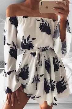 off shoulder floral dress #omgoutfitideas #fashionista #clothing