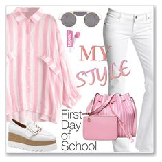 """""""Casual Chic Striped Blouse: First Day of School"""" by jecakns ❤ liked on Polyvore featuring Citizens of Humanity"""