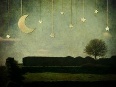 Moon, Tree and Stars, via Flickr.