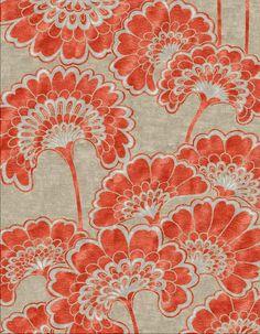 JapaneseFloral_Tangerine_FlorenceBroadhurst_CadrysContemporary