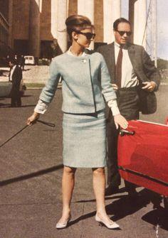 Audrey Hepburn in Rome, 1961.
