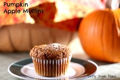 Pumpkin Apple Muffins, vegan and refined sugar free
