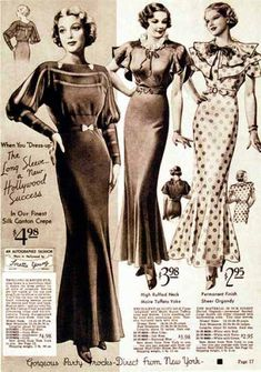 Tierney Lowery: 1930s women fashion showcasing short bobbed hair with below calf length skirts and flared hemline.