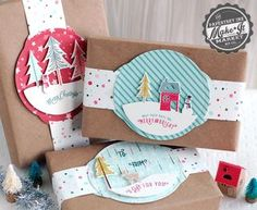 Flat Holiday Tags by Betsy Veldman for Papertrey Ink (September 2014)