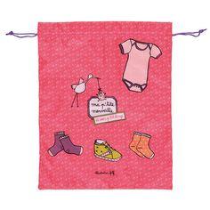 Sac à linge Rose - Cigogne 8,25€ sur www.CmaChambre.fr #pink #baby #rose