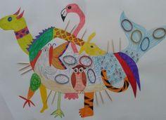 Fantasiedier2_Romee_OppasTips. Kinderen tekenen om de beurt iets nieuw aan het dier. Hierbij nodigt het uit naar eigen fantasie