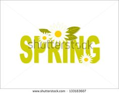 Decorated Fresh Green Spring Typography