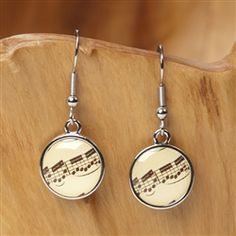 Sheet Music Dangle Earrings at The Music Stand