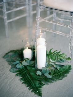 Modern greenery accents: http://www.stylemepretty.com/illinois-weddings/chicago/2016/04/01/sleek-sophisticated-winter-chicago-wedding/ | Photography: Winsome and Wright - http://winsomeandwright.com/