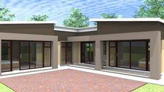 Overall Dimensions- x 2 Car Garage Area- Square meters Modern House Plans, Modern House Design, House Floor Plans, Logan House, Flat Roof House, Tiny House, House Plans South Africa, Building Costs, Bedroom House Plans