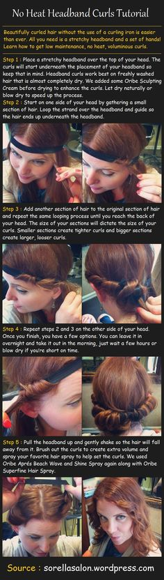 Tips for Building Muscle! No Heat Headband Curls Tutorial. NEVER using a curling iron again!No Heat Headband Curls Tutorial. NEVER using a curling iron again! Wavy Hairstyles Tutorial, No Heat Hairstyles, Headband Hairstyles, Trendy Hairstyles, Headband Curls Tutorial, Hair Without Heat, Curls No Heat, Beauty Tutorials, Hair Tutorials