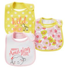 Just One You™ Made by Carter's®  Baby Girls' 3-Pack Bib Set - Pink. Image 1 of 1.