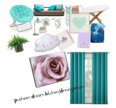 """Pusheen Dream"" by ofernandez2004 on Polyvore featuring interior, interiors, interior design, home, home decor, interior decorating, PBteen, Pusheen, DENY Designs and iittala"