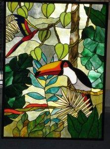 Modèle pour vitrail - Toucan
