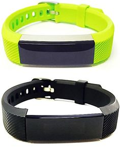 BSI Set 1 Lime Green 1 Black Classic Accessory Bands For Fitbit Alta Activity Tracker Adjustable Silicone Design Straps With Metal Buckle Clasp >>> More info could be found at the image url.