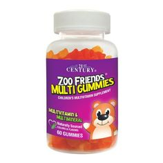 21st Century Zoo Friends Tropical Multi Gummies Supplement, 60 Count -- You can find more details by visiting the image link.