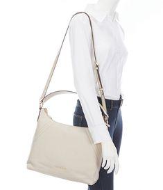 MICHAEL Michael Kors Aria Top Zip Large Shoulder Bag   Dillard's Lulu Fashion, Large Shoulder Bags, Leggings Fashion, Dillards, Latest Trends, Michael Kors, Zip, Leather, Dress