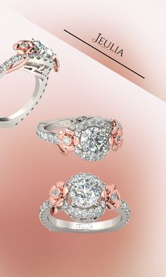 Flower style engagement or anniversary ring from Jeulia Jewelry. Shop with your lover today!