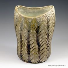 Carl-Harry Stalhane for Rorstrand, an early vase in a snakeskin glaze