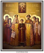 ICON OF ROMANOV FAMILY PRINT IMPERIAL RUSSIA TSAREVICH ALEXEI GRAND DUCHESSES