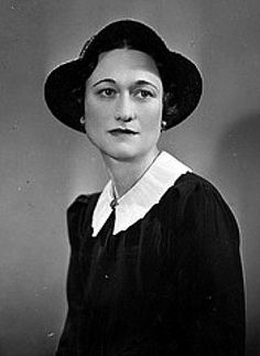 Mrs Wallis Simpson (afterwards Duchess of Windsor) oddly looking like that woman with the hat on 'Emmerdale'