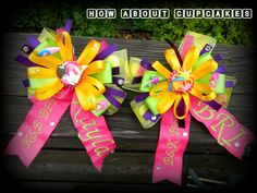 BFF Bows best friend bows too cute! personalized bows over the top bow decorated bows embroidered bows