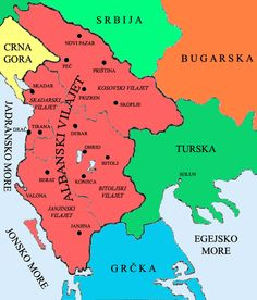 Albanian Vilayet as requested by the League of Prizren for full autonomy in 1878, which was granted by the Ottomans in September 1912 following a successful revolt